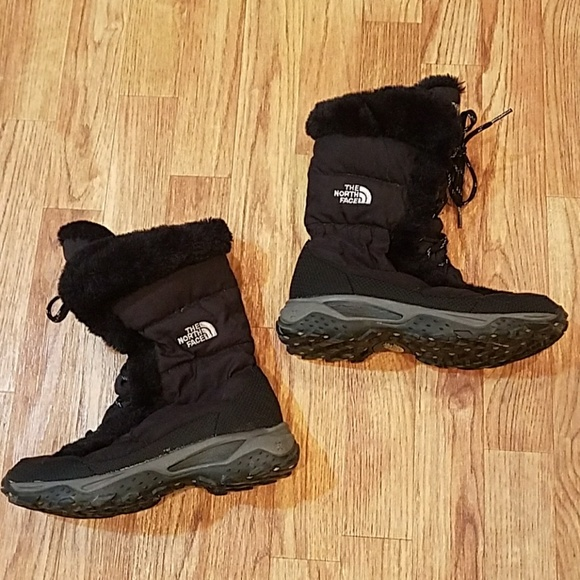147ed6190 North Face Womens Goose Down Winter Boots Size 6